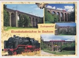 TRAIN  - AK 377946 Zschopautal - Eisenbahnbrücken In Sachsen - Structures
