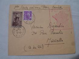 25.7.1939 Timbre Aux Marins Perdus En Mer 1 Ere Liaison Aeropostale De Nuit Paris A Marseille - Marcophilie (Lettres)