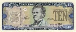 Liberia P.27 10 Dollars 2011 Unc - Liberia