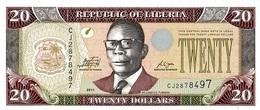 Liberia P.28  20 Dollars 2011 Unc - Liberia
