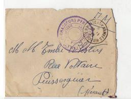 B 28 11 1939 Lettre Avec Cachet Bataillon De Chasseurs Pyrénéens  Avec Secteur Fictif De Poste Aux Armées - Postmark Collection (Covers)