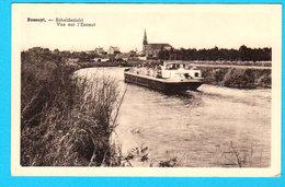 CPSM BOSSUYT : Scheldezicht / Vue Sur L'Escaut ( Met Boot ) ( Avec Bateau ) - Circulée En 195? - 2 Scans - Avelgem