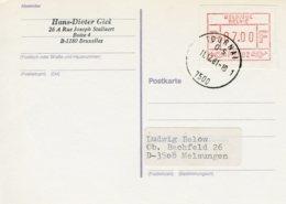 (B) ATM2 FDC Briefkaart 1981 - 7 BEF - Postage Labels
