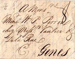GB 1765, Porto Brief V. London N. Genua Sardinien, Italien - Grande-Bretagne