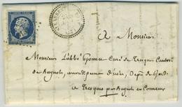 Type 22 Saint-Laurent-du-Pont (Isère) + PC 3153 / LàC 1855 Grande Chartreuse Pour L'abbé Gommet à Tresques. Botanique. - 1849-1876: Classic Period