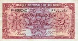 Belgium 5 Francs, P-121 (1.2.1943) - Extremely Fine - [ 2] 1831-... : Belgian Kingdom