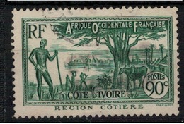 COTE D'IVOIRE        N°  YVERT   :    156  ( 5 )          OBLITERE       ( OB 07/24 ) - Côte-d'Ivoire (1892-1944)
