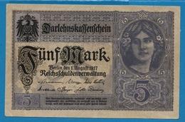 DEUTSCHES REICH 5 Mark  01.08.1917# V.15514842 P# 56b - [ 2] 1871-1918 : Impero Tedesco