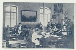 Carte Photo Du Réfectoire De La Croix Rouge De Bourges 1914-1918 Carte Animée - Guerre 1914-18