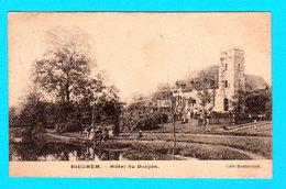 CPA PK DIEGHEM DIEGEM : Hôtel Au Donjon ( Café Restaurant ) Circulée En 1906 - 2 Scans - Diegem