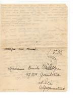 B 05 06 1940 Lettre/courrier FM Mention La Somme - Guerra De 1939-45