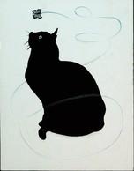 CPM  CHAT NOIR  Illustrateur Ou Illustration Par LE CAM  (BLACK CAT Postcard Illustration Or Drawing) - Gatos