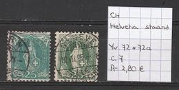 Zwitserland 1882 - Yv. 72-72a Gestempeld/oblitéré/used - Gebraucht