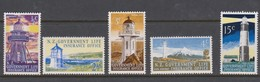 New Zealand SG L 56-62 1969 Lighthouses M5 Values,Mint Never Hinged - Unused Stamps
