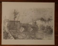 Metz. Porte Sainte-Barbe. Etat En 1863. Reproduction.1978. - Estampas & Grabados