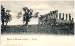 GIRGENTI - Tempio Di Giunone E Lucina - Italia