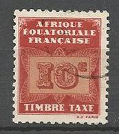 AEF TAXE  N° 2 OBL - A.E.F. (1936-1958)