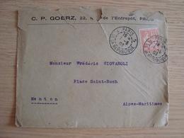 ENVELOPPE C. P. GOERZ 22 RUE DE L'ENTREPOT PARIS 1903 - 1877-1920: Periodo Semi Moderno