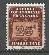 AEF TAXE  N° 4 OBL - A.E.F. (1936-1958)