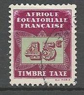 AEF TAXE  N° 6 OBL - A.E.F. (1936-1958)