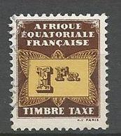 AEF TAXE  N° 9 OBL - A.E.F. (1936-1958)