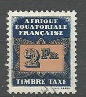 AEF TAXE  N° 10 OBL - A.E.F. (1936-1958)