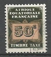 AEF TAXE  N° 7 OBL - A.E.F. (1936-1958)