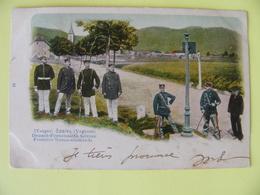 Cpa SAALES Vosges Frontière Franco Allemande 3 Cachets De La Poste - Autres Communes