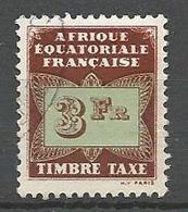 AEF TAXE  N° 11 OBL - A.E.F. (1936-1958)