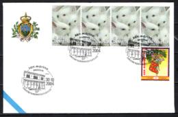 SAN MARINO - 30-10-2004 - PADOVA - 51° NUMISMATICA FILATELIA - ANNULLO SPECIALE - OBLITERATION SPECIALE - SONDERSTEMPEL - Covers & Documents