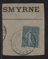 Type Semeuse - N°161 - 50c Bleu Obliteration Tresor Et Postes 528 - Smyrne - Armee D Orient - 1903-60 Semeuse Lignée