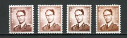 BE   1068A - 168AaP3   XX   --   Les Deux Papiers Et 3 Nuances...  --  Impeccables. - 1953-1972 Lunettes