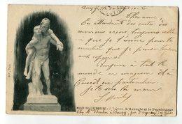 Ref 201 - PARIS VI - Musée Du Luxembourg - L'Aveugle Et Le Paralytique - 1902 - Carte PIONNIERE - Scan Du Verso - Museen