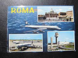 AK ROMA Aeroporto Flughafen Airlines  //  D*43699 - Transports