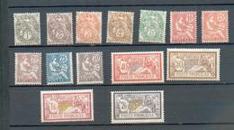 PS  110 - YT 20 à 33 * - Charnière Complète - Port-Saïd (1899-1931)