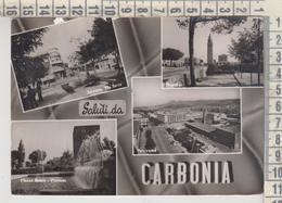 CARBONIA  SALUTI VEDUTE  VG - Carbonia