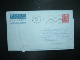 AEROGRAMME 50c OBL.MEC.28 DEC 1975 HONG KONG A - Postal Stationery