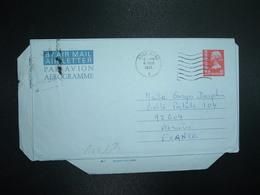 AEROGRAMME 50c OBL.MEC.6 MAR 1975 HONG KONG A - Postal Stationery