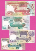 SEYCHELLES  Serie De 4 Billets 1989 ( 10,25,50,100 ) - Seychellen