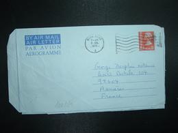 AEROGRAMME 50c OBL.MEC.5 JUL 1975 HONG KONG A - Postal Stationery