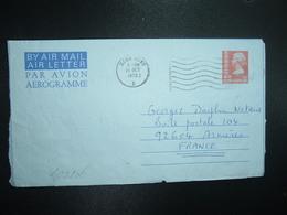 AEROGRAMME 50c OBL.MEC.24 OCT 1975 HONG KONG A - Postal Stationery