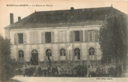 MAIRY SUR MARNE MAIRIE ET ECOLE - France