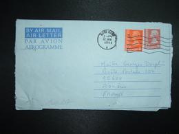 AEROGRAMME 50c + TP 10c OBL.MEC.12 JAN 1976 HONG KONG B - Postal Stationery