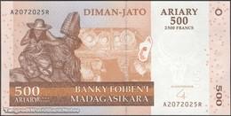 TWN - MADAGASCAR 88b - 500 Ariary 2004 A XXXXXXX R UNC - Madagascar