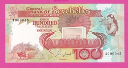 SEYCHELLES  Billet 100 Rupees 1989 Serie A0000045 Pick 35 - Seychelles
