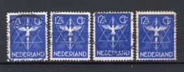 NEDERLAND 256 Gestempeld 1933 - Vredeszegel (4 Stuks) - 1891-1948 (Wilhelmine)