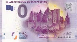 .. BILLET 2017 - 1 ... CHATEAU COMTAL DE CARCASSONNE ... UEHY019911 .... - EURO