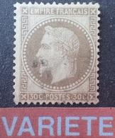 DF40266/1217 - NAPOLEON III Lauré N°30h Fond Ligné - Cote (2020) : 50,00 € - 1863-1870 Napoléon III. Laure
