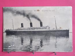 Visuel Très Peu Courant - Le Transatlantique MAJESTIC De La White Star Line - Scans Recto Verso - Steamers