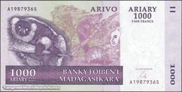 TWN - MADAGASCAR 89b - 1000 1.000 Ariary 2004 A XXXXXXX S UNC - Madagascar